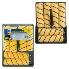 """16 PIECE 9"""" PAINT ROLLER SET TRAY, HANDLES WITH 5 TIGER SLEEVE ROLLERS DIY BNIB"""