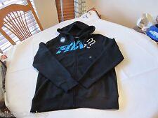 Men's Fox Racing hoodie zip up jacket coat small S SM black blue white head logo