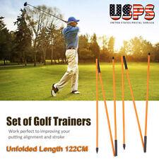 Alignment Stick Golf Training Practice Sticks Tour Rods Aid Swing Plane Trainer