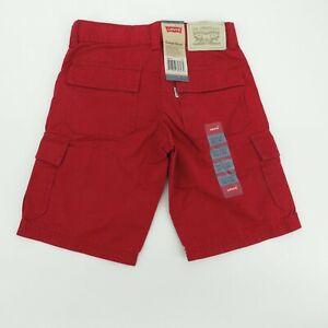 Levis Boys Adjustable Waist Red Cargo Shorts 5 Reg