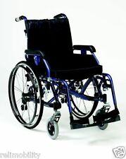 Enigma K Chair - Full Suspension Lightweight Aluminium Wheelchair - Blue