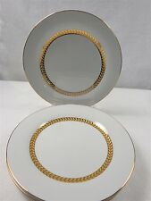 SABATIER THE FRENCH HOME~IMPERIAL GOLD   FOUR SALAD/DESSERT PLATES~MINT COND