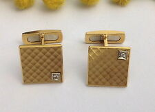 GEMELLI IN ORO GIALLO 18KT E DIAMANTI - 18KT SOLID GOLD DIAMONDS CUFFLINKS