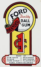 Ford Arrow One Cent Vending Gumball CoinOp Water Slide Decal DF 1003