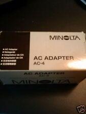 New Minolta AC-4 AC Adapter Dimage X, Xi, X50 & X60 AC4