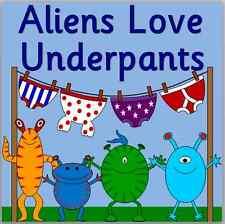 ALIENS LOVE UNDERPANTS story resource pack on CD- EYFS, KS1- Space
