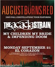 AUGUST BURNS/ACACIA STRAIN RED 2009 CONCERT TOUR POSTER