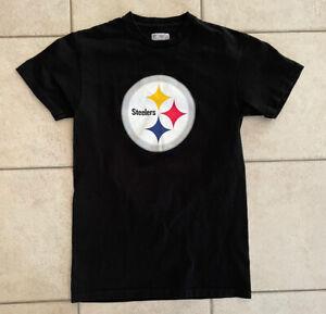 NFL Team Apparel - Pittsburgh Steelers - Troy Polamalu #43 Black T-Shirt Small