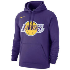 New 2020 Nike Los Angeles Lakers Statement Edition Club Fleece Pullover Hoodie