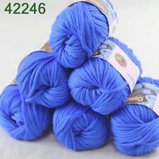 Sale New Yarn Soft Worsted Cotton Chunky Shawl Scarf Hand Knitting 6x50gr 246