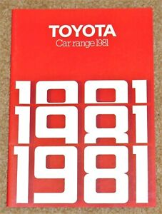 1981 TOYOTA RANGE Sales Brochure inc Celica Starlet Corolla Coupe Crown MINT!