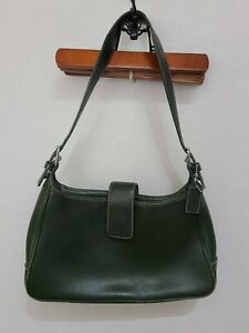 COACH Olive Green Leather Hampton Legacy Hobo Shoulder Bag #7789