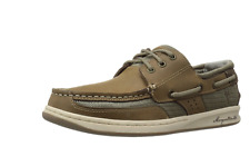 Margaritaville Men's Leather Casual Lighouse Wharf Boat Shoes New Size 9.5 Plam