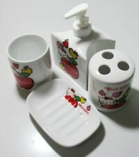 Cute Hello Kitty 4 Pcs Bathroom Ceramic Set