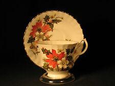 Vintage Bluebird Canada Teacup and Saucer Fine Bone China Gilt Trim Christmas