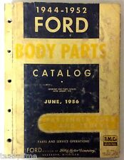 VINTAGE 1944-1952 FORD BODY PARTS CATALOG PASSENGER CARS AND TRUCKS
