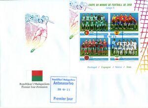 World Cup 2018 Portugal Spain Morocco Football Soccer Madagascar FDC