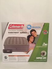 Coleman Queen Airbed - Inflatable Air Mattress Bed - Double High Comfort - Gray
