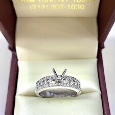0.75ct Diamond Semi Mount Engagement Ring in 14k White Gold