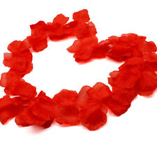 AKORD 1000 Ivory Silk Rose Petals, Fabric, Red