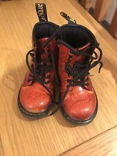Children's Red Glitter Dr. Martens / Doc Martens Boots size 6 UK