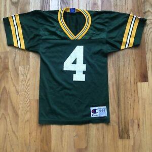 Vintage 90's Champion USA Green Bay Packets Brett Favre Jersey Sz Youth S (6-8)