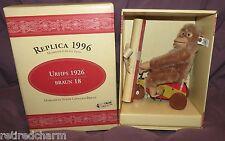 �Steiff Urfips Replica 1926 Mint In Box 400896 Lt Ed 3000 Coa Monkey Chimpanzee�