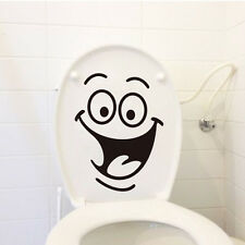 Cartoon Smile Toilet Stickers Wallpapers All-match Style Art Mural Waterproof