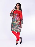 Pakistani Shalwar Kameez -Digital Silk Printed Shirt and Trouser -Size 10 to 20