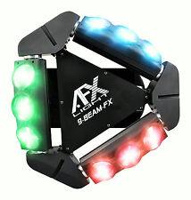 AFX 9 Beam-FX - 9 x 12w RGBW LED Spider Light Effect, DJ/Disco Light
