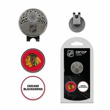 Chicago Blackhawks NHL Team Golf Cap Clip with 2 Magnetic Enamel Ball Markers