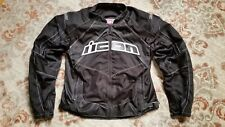 ICON CONTRA BLACK TEXTILE & MESH ARMORED MOTORCYCLE JACKET MEN'S SIZE XL