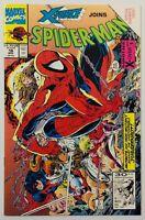 SPIDER-MAN w/ X-Force #16 McFarlane Special SideWays Issue - 1991 Marvel Comics