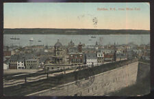 1909 POSTCARD HALIFAX NOVA SCOTIA CANADA BIRDS EYE VIEW WEST END
