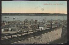 1909 POSTCARD HALIFAX NOVA SCOTIA CANADA BIRDS EYE VIEW WEST END