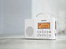 Sangean H-201 Radio UKW / MW, wasserdicht, Tragegriff, Kurzzeitwecker, weiß