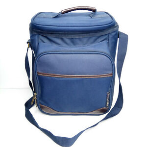 Picnic At Ascot Two Person Backpack Navy Wine Cheese Setup