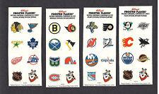 Sealed 1994 Kellogg's NHL Team Logo Sticker Set