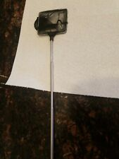 Nice 3 inAquarium Fish black net; handle 11 in, expands to 15 inches