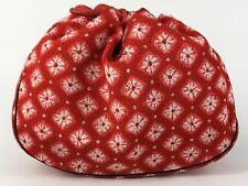 Vintage Japanese Kinchaku Draw-String Bag Chirimen Shibori Print: Nov17G