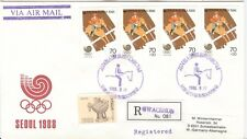 Korea Olympische Spiele Olympic Games 1988 Violet Equestrian on Reg. cover