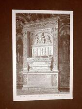 Roma nel 1877 La tomba del Cardinale Ferrici alla Minerva Lazio