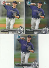 14 WILL GADDIS RC LOT W/ REFRACTOR 2017 BOWMAN & CHROME DRAFT PROSPECT