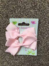 Pink Girls Hair Bows BNWT