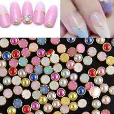 200pcs/pack DIY 4mm Acrylic Decor Nail Art Charms Bling Rhinestone Pearl Tips