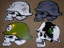 "METAL MULISHA Set of 4 BIG Helmet Skate Sticker 12"" motocross decal Lot"
