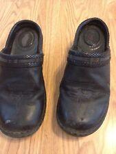 Women's Dream by Durango Slip On Black Leather Western Clogs Shoes Sz 7.5M
