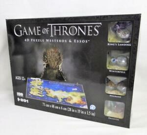 Game of Thrones 4D Puzzle Westeros & Essos Maps Models Poster Guide 891 Pcs New