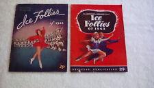 Ice Follies 1942 1943 Advertising Entertainment Magazine Coca-Cola Miller Beer