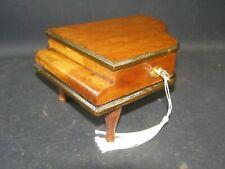 Antique Mahogany Grand Piano Box Working Lock & Key c1920 Brass Key Plate